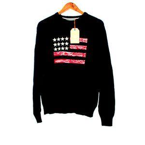 NWT Weatherproof Vintage Cotton Sweater Flag